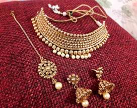 Jwellery gold plated necklace set