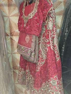 Bridal lehnga red colour