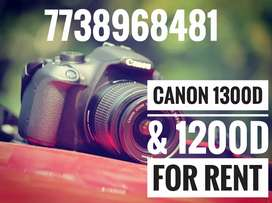 Canon 1300D & 1200D for Rent