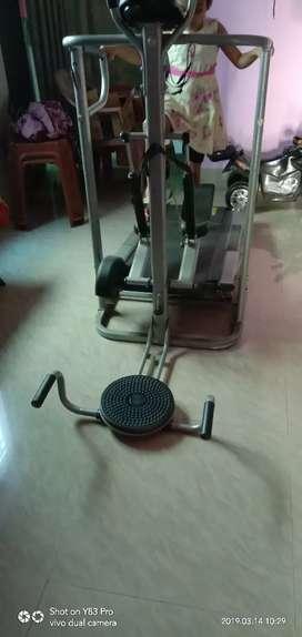 Manual multifunction treadmill