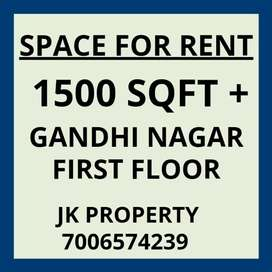 1500 sqft+ space for rent in Gandhi Nagar