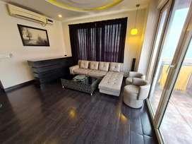 3 Seater Recliner Sofa, Center Table & Buffet Counter