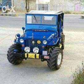 New Blue painted modify ford jeep