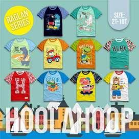 Kaos anak laki-laki Merk Hoolahoop Edisi raglan series