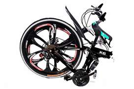 X6 Folding Cycle BM Series 21 Shimano Gears Brand New carbon steel