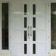 Kusen Aluminium / pintu PANEL ALUMINIUM  partisi gypsum  . TRIMITRA
