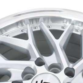 velg keren HSR Sepulu Ring 16x7 H10x100-1143 ET40 Silver Machine Face