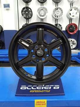Velg mobil Kia Rio Ring 15 HSR Minas Pcd 4x100 & 4x114,3