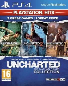 PS4 game Uncharted collection for sale or exchange
