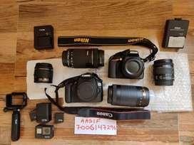 DSLR Cameras on Rent Canon/Nikon