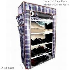 Single Shoe Rack Metal Shelves 5 layers, Everything for your home