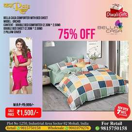 COMFORTER AND BEDSHEET GIFT, GIFTING, ITEM FOR SALE, SEASON SALE, OFF