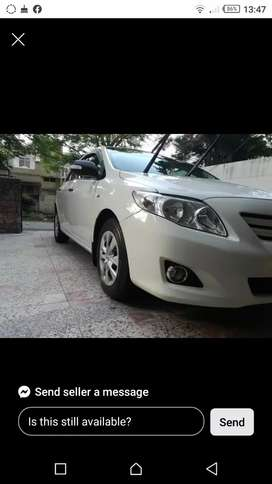 Toyota Corolla Xli available for booking in Islamabad