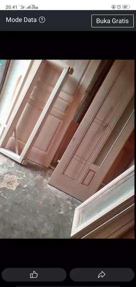 kusen + pintu dari kayu bekas kamper yg berkualitas