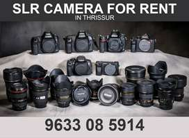 Canon DSLR Camera with Telephoto Lens For RENT IN THRISSUR