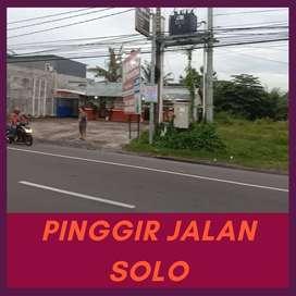 Tanah Spesial Pinggir Jalan Solo Cocok Bangun Ruko Untuk Disewakan