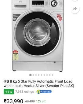 Brand New IFB 8 Kg Front Loading Washing Machine Mrp 40490 Offer 28999