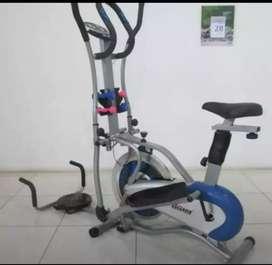 Alat olahraga five function statis bike