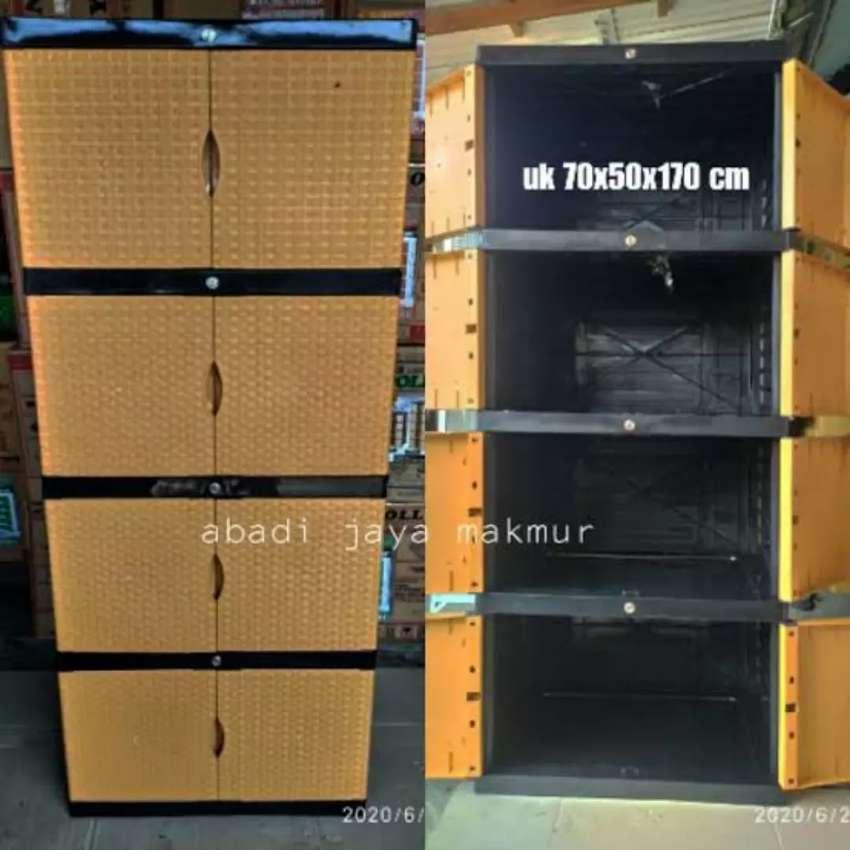 Gratis ongkir bjm - Lemari plastik 8 pintu / 4 rak dalam full kunci 0