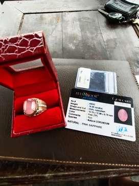 Natural pink saphire