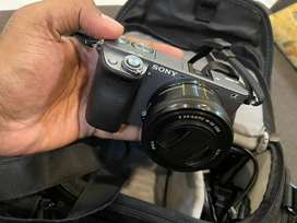 Sony a6000 with 16-50 lens kit