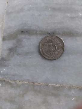 25 Paise Ancient Real Coin