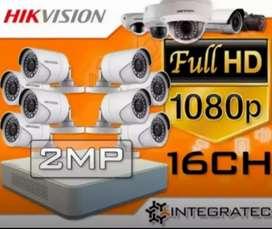 Cctv 2mp full HD'tampilan gambar jernih dan bisa konek HP.