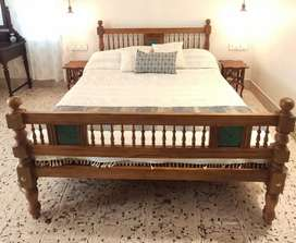 Traditional Kerala style Teak Wook Bed.(5ft*6.5ft)