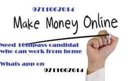 Tenth or twelve passed candidate join our team work