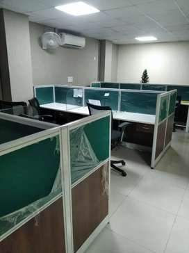 In A block 22 workstations 2 cabin reception pantry etc 4 rent sec 63