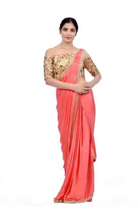 Party wear stitched saree