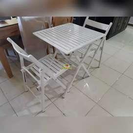 GP. Set Kursi Teras + Meja warna Putih