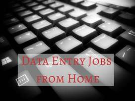 Minimum knowledge of typing required for Data entry work available