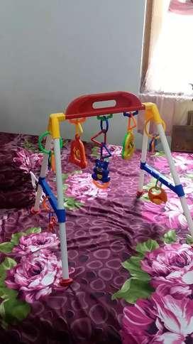 Bouncer baby + mainan