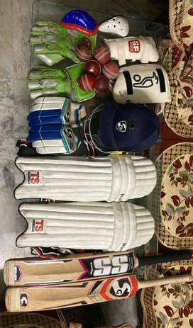 Full cricket kit with Branded things
