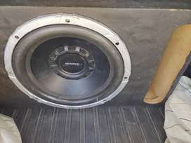 12 inch woofer with box 100% working no falt final Rates
