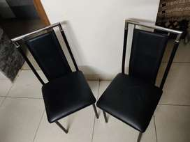 Black chair set of 4 @Rs2500