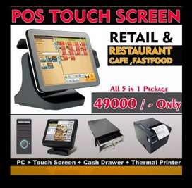 fastfood , cafe software with hardware n touch screen