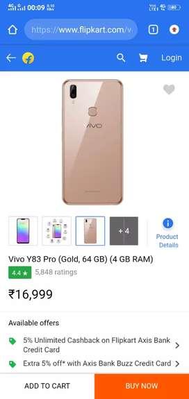 VIVO Y83 pro 4gb 64gb