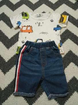 Setelan anak cowok baju dan jeans