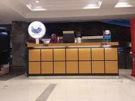 Booth jualan keren finishing HPL untuk Indoor di Mall