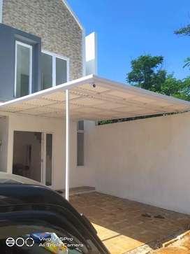 Kanopi atap alderon RS single layer murah dll