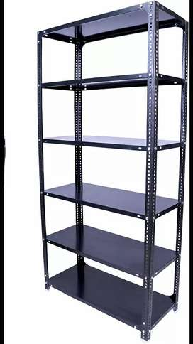 Slotted Angle Storage Racks (6 Shelves, Grey) in Superb Condition