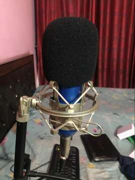 bm 800 mic and pop filter and mic stand