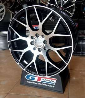 Velg racing bisa buat mobil Yaris city jazz Vios R17-7.5 h8-100/114.3