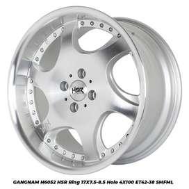 velg racing GANGNAM 6052 HSR R17X75/85 H4x100 ET42/38 SMF/ML