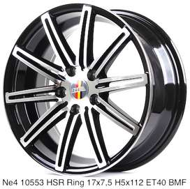 velg hsr type NE4 ring 17 for mercy warna black machine face