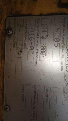 Exavator  JS205 LC