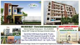 3 BHK Duplex, 2 BHK Houses, Apartment Flats and Open Plots