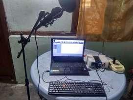 Home setup studio for song recording..